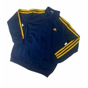 ~Boys size small adidas blue and yellow track top